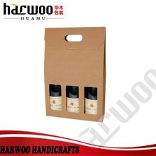 Decoration Corrugated board wine carrier for sale