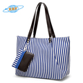Newest Stripe Canvas Beach Tote Bag Wholesale