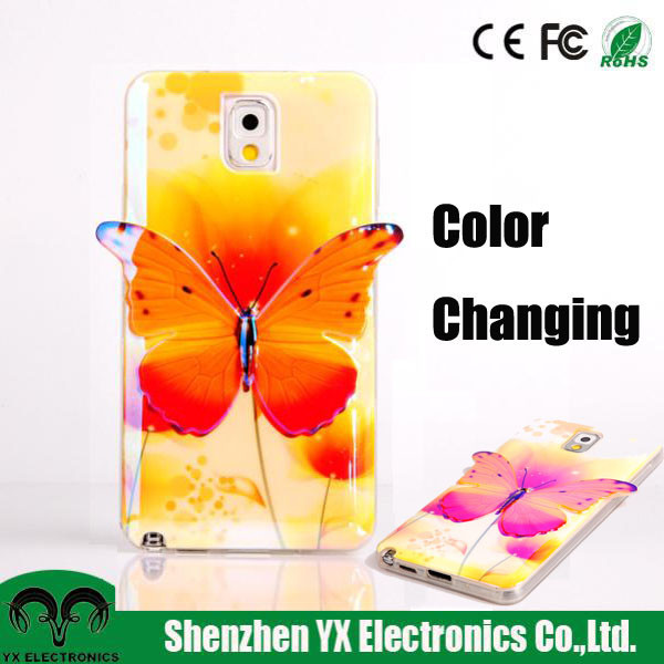 3D color changing fancy phone case for samsung galaxy note 3