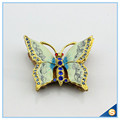 Handmade Enamel Craft Butterfly Shape Trinket Box Crystal Jewelry Storage Box SCJ589