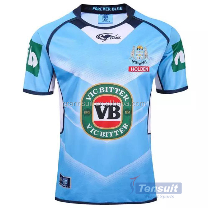 Wholesale rugby jersey in thailand best orginal quality football wear sublimated rugby jerseys
