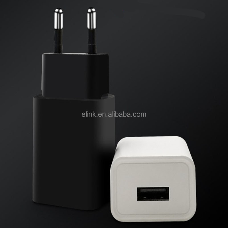 Black 5V 2A USB charger travel charger