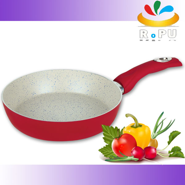 Promotional gift aluminum ceramic frying pan as seen on tv