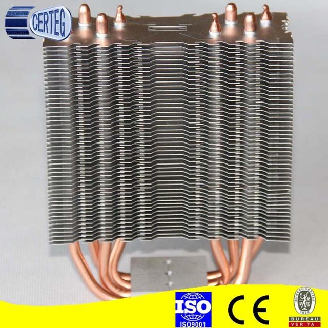 copper tube aluminum cooling fins