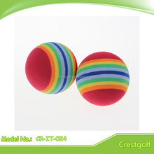 Custom colored soft foam rubber ball small bouncy golf ball