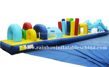 Coolest Small kids water floating inflatable obstacle course games
