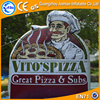 Advertising product pizza inflatable signs with logo printing