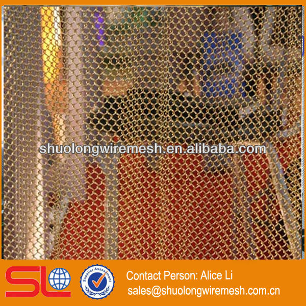Hebei supply decorative hanging room divider,mesh shower curtain (manufacture)