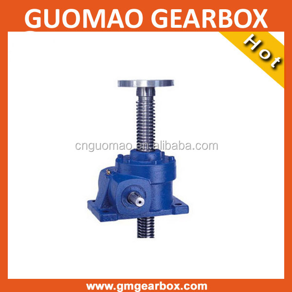 China steel worm gear acme self-locking mechanical lifting jacks