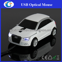 Factory price for Audi mini 3D optical car mouse white