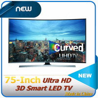 Curved 75-Inch 4K Ultra HD 3D Smart LED TV