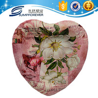 Well designed deep heart shaped plastic flower tray/home decoration