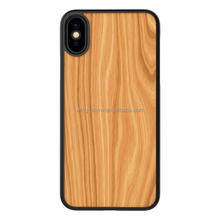 plain real natural wooden cell phone cases for iphone X,for iphone 5.8 inch