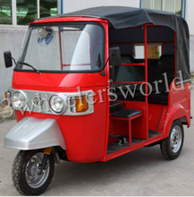 Motorized driving type 200cc Displacement CNG&GAS Bajaj Auto Rickshaw bajaj motor taxi Tuk Tuk three wheeler