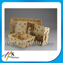 wholesale rigid cardboard paper tray box for fruit display