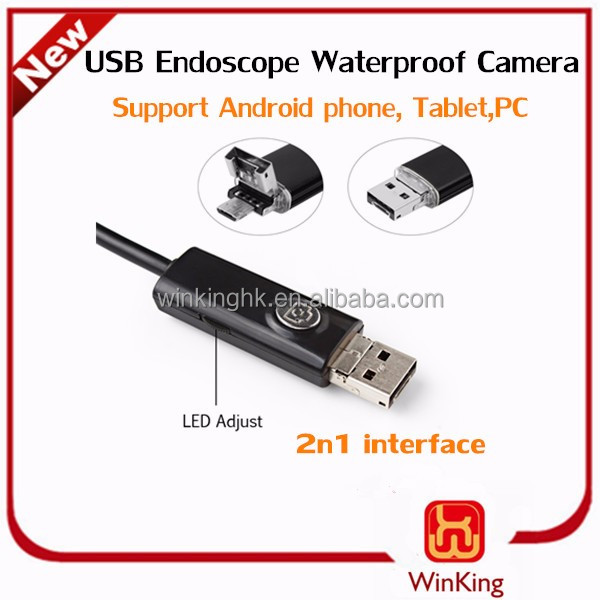 7mm Android OTG Endoscope Tube for Phones with 2 in 1 usb endoscope OTG Function