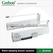 high quality full extension Soft close Double wall drawer slide