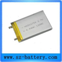 Factory supplier 503759 lithium polymer Good Quantity battery 3.7V 1200mah Li-ion Rechargeable Battery For GPR
