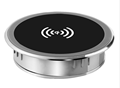 desktop fast wireless charger mini round wireless phone charger for office/coffee /bars desk