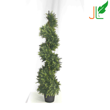 Spiral Artificial Boxwood Topiary Tree for Decoration