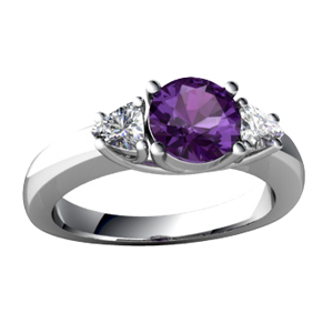 Christmas gift purple gemstone AAA cz famous band imitation diamond rings