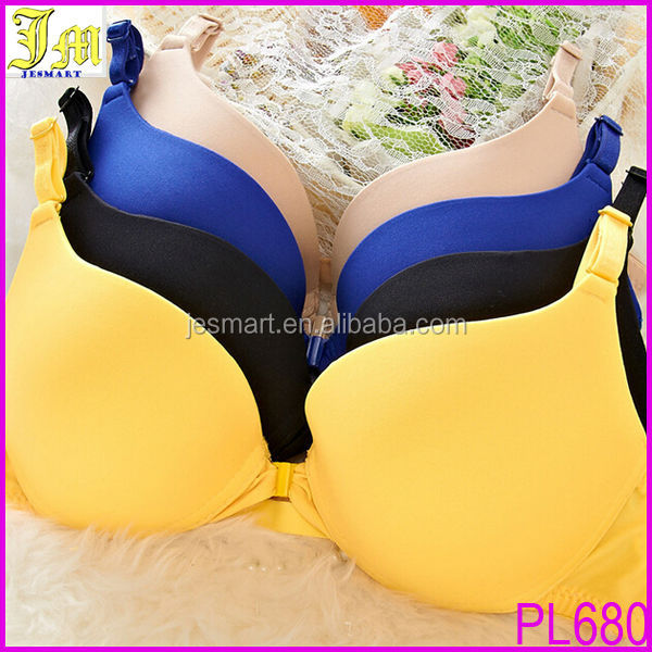 Hot Sexy Girls Adjustable Push Up Bra Candy Color Sexy Young Ladies Front Button Bra 2014 Summer underwear Wholesale