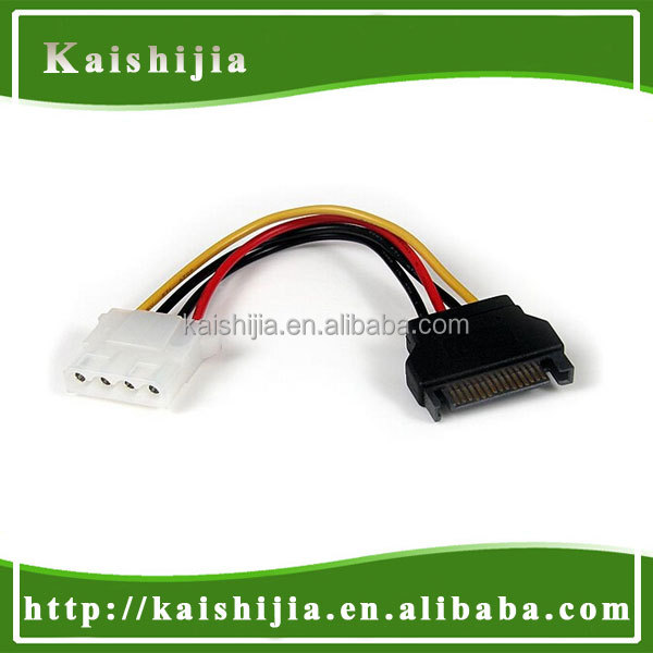 PC IDE 4 Pin Male to SATA 15 Pin Male Power Cable Adapter