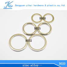 customized metal o ring for bag color plated