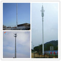Steel monopole antenna tower for telecommunications