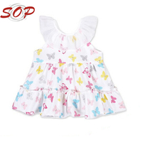 Animal print lovely dress for girls fancy baby frock designs