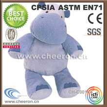 Cartoon Character Plush Christmas Blue Hippo Toy