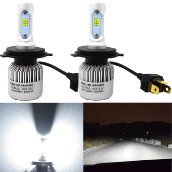 LED Car Headlights Bulbs 72W 6500K 8000LM H8 H11 LED Bulb H16EU H16JP H9 LED Headlights S2