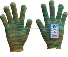 7/10 gauge white knitted cotton gloves manufacturer in china/glow in the dark d gloves