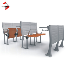 (lecture hall chair with desk factory) high quality old school desks with chairs with wood and aluminum alloy