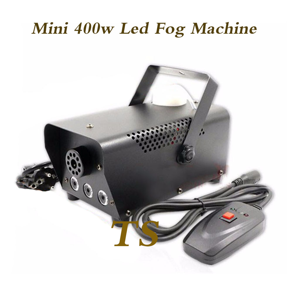 (TSK001D) Black shell new 400W RGB 3*1w tri color led fog machine with wire and remote control