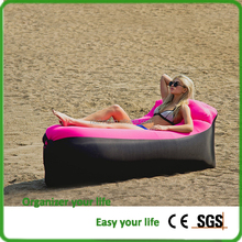 Outdoor Inflatable Air Sleep Sofa Couch Portable Furniture Sleeping Bag Lazy Bed Hangout Lounger for Summer Camping Beach Seasid