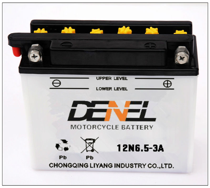 Dry charged high power off road bike battery12V supplier 12n6.5-3A