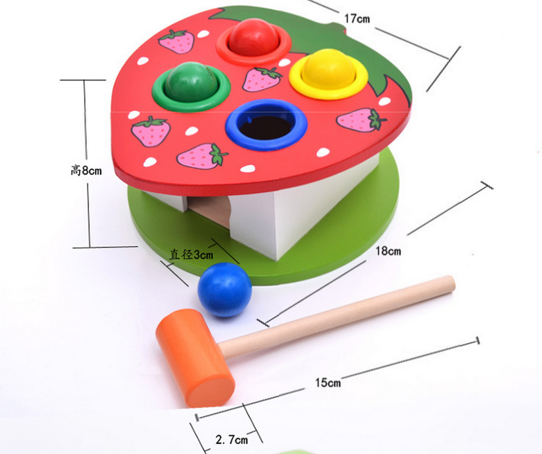 High quality wholesale knocking Wooden Educational Toys for kids & birthday