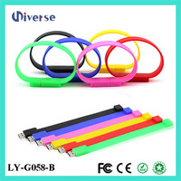 Bulk 1gb wristband flash drives memory stick waterproof silicone usb bracelet
