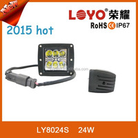 Popular size and design rectagnular 24w led work light 4w*6 pcs leds imported chips factory offer