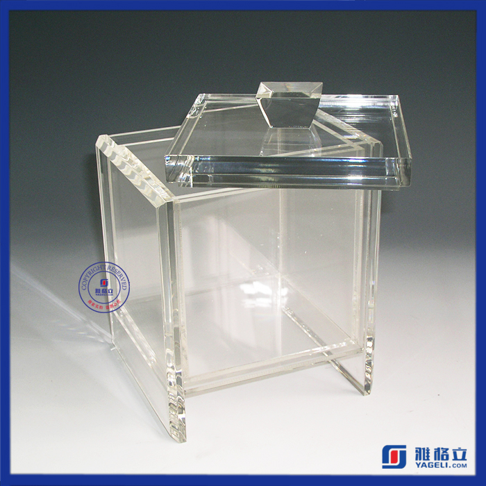 Clear crystal acrylic candy bins wholesale wedding favors candy box with lid and cover