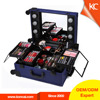 cosmetic case around mirror led lighting makeup case with mirror makeup artist stylist hair salon travel case