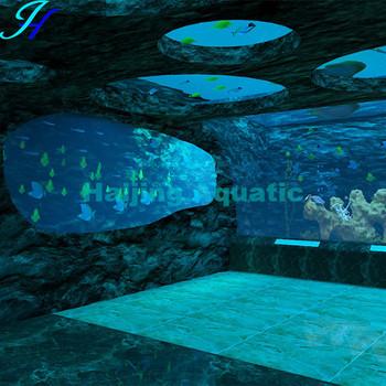 Haijing acrylic aquariums in floor buy aquariums in for Floor aquarium