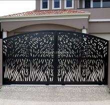 good quality garden buildings stainless steel decorative laser cutting gate fence