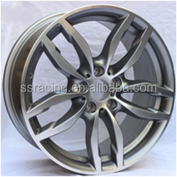 "18"" monoblock gun metal machine face replica Rim Wheels For 2015 year X4"
