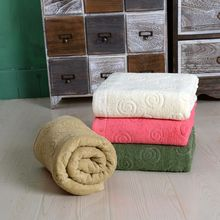Jacquard Logo 100% Cotton Bath Towel Stock With Promotional