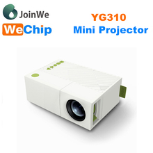 Latest projector mobile phone YG310 LCD mini led Projector 400 -600Lumens 1080P LED home Cinema TV Projector