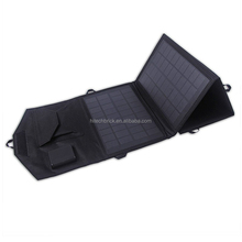 14watts Mono-crystalline Panels with Dual USB Ports, Foldable Movable Power Station for Camping Hiking, Clean Energy Charging