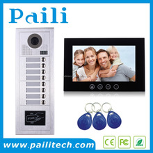 8 Apartments Video Intercom 10inch Building Video Door Phone System With Keypad / RFID card Unlocking Doorbell Video Intercom