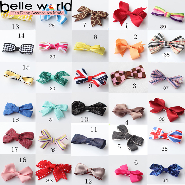HOT Wholesale Bowknot Hairpin Kids Baby Girls Hair Bow Clips Barrttte
